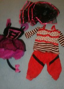 Lot-of-Monster-High-Dress-Up-Costume-size-medium-7-8-Girls-amp-Extras