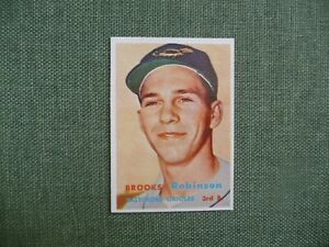 1957-TOPPS-328-BROOKS-ROBINSON-RC-ROOKIE-HOF-CENTERED-NM-MT-WOW