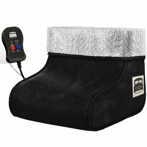 ELETTRICO riscaldato piede più caldo piedi Massaggiatore Comfort in pile in pelle scamosciata rilassante