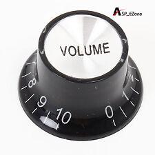 Black Volume Guitar Knobs Top Hat for SG/LP Style Guitar Potentiometer knob
