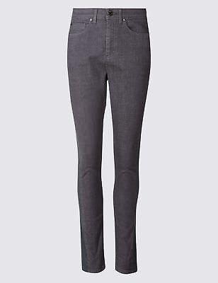 TWIGGY for M/&S CLASSIC Roma Rise SKINNY Leg JEANS ~ Size 18 ~ ECRU