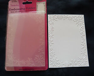 Crafts-Too-CTFD4030-C6-Embossing-Folder-Frost-Frame-Snowflake