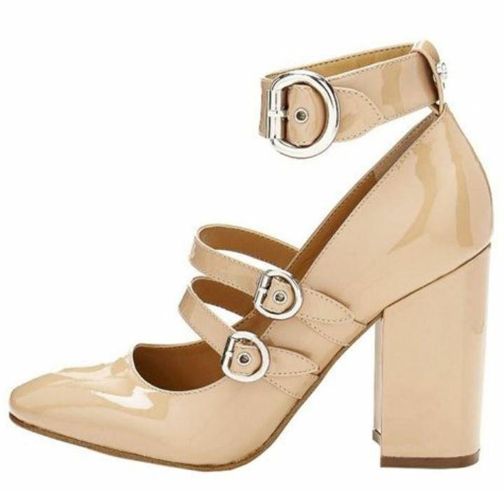 GUESS chaussures femmes Escarpins  Maryjan  lackoptik beige T 36 37 38 39 40 41 nouveau