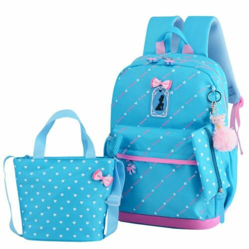 Children School Bags for Girls Backpack Heart Princess Style Printed Pattern Bag