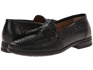 Nunn Bush Men S Strafford Woven Loafer Black Shoes 84484