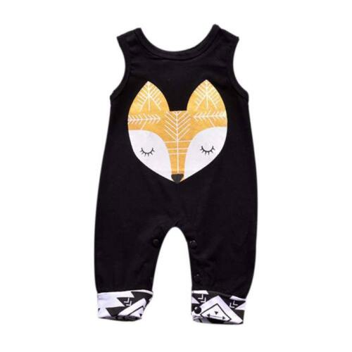 Newborn Baby Boy Girl Sleeveless Romper Jumpsuit Infant Bodysuit Outfit Clothes