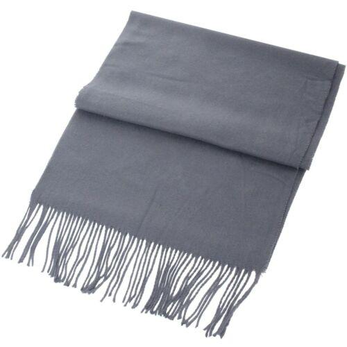 Mens Womens Unisex Scarf Warm Winter Soft Plain Ladies Neck Shawl Wrap