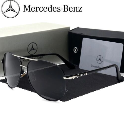 New/'s Men Polarized Sunglasses Mercedes Driving Glasses Designer  WITH BRAND BOX