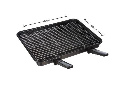 Grandi Vitreo Smalto Forno Grill Pan con maniglie /& Rack per Bosch 420 x 300 mm