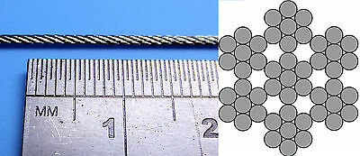 0.5mm, 0.8mm, 1mm, 1.5mm, 2mm, 2.5mm Miniature Steel Rope Cable Model Tanks 2m