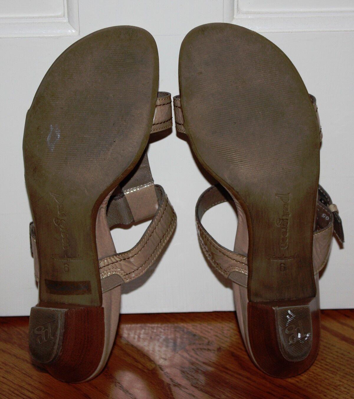 donna Paul verde Tan Tan Tan Patent Leather Sandal Heels Dimensione 6   US 8.5 febb02