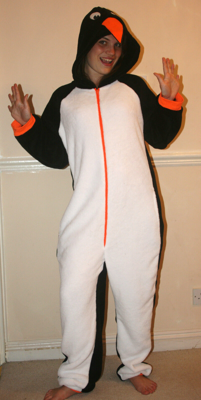 Womens,Mens,Penguin 1Onesie1, all in one pyjama suit/fancy dress/unisex,Adult