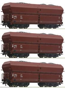 Roco-H0-56333-S-Selbstentladewagen-avec-Insertion-Charbon-le-Dr-3-Piece