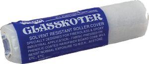"New Glasskoter Roller corona Brush R201f4 4"" Nap 3/8"" Polyester White"