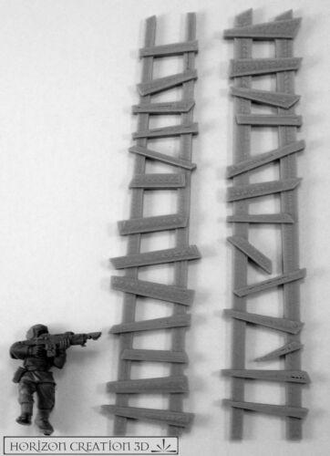 HC3D Building Bits Rough Ladders Wargames Miniatures Scenery 40k 28m 15mm
