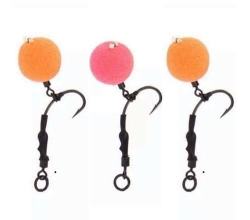 3 Ronnie Rigs  Packs with Teflon Hooks Carp micro barbed size 8 carp fishing