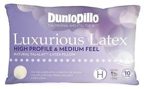 Dunlopillo-Luxurious-Latex-High-Profile-amp-Medium-Feel-Pillow