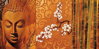 Keith Mallett: Buddha Panel I Keilrahmen-Bild Leinwand Feng-Shui Asia-Style