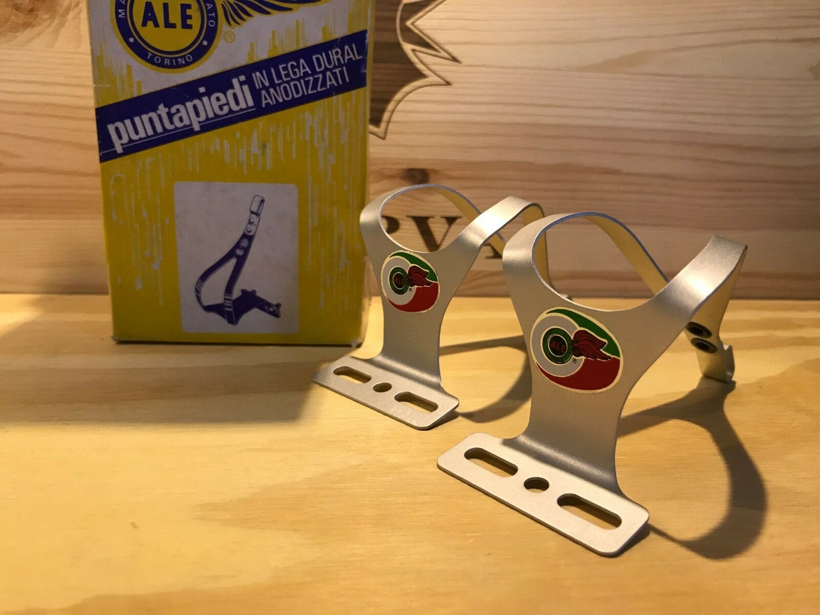 ALE Pedalhaken Toe Clips Cale Pieds fü Campagnolo Colnago Bike Pedal Vintage NOS