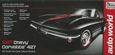 ERTL AMERICAN MUSCLE AUTO WORLD 1:18 CHEVY CORVETTE 427 DEL 1967  ART 1004