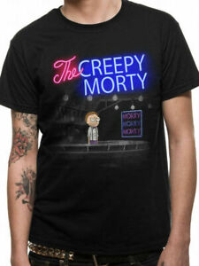 Official-RICK-AND-MORTY-T-Shirt-Bartender-Creepy-Morty-Black-NEW-S-M-L-XL-XXL
