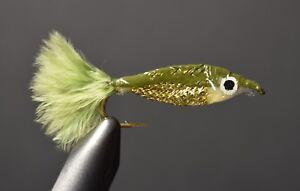 Size 2 Grizzly Tail Epoxy Minnow Fly Fishing Flies 2 Flies