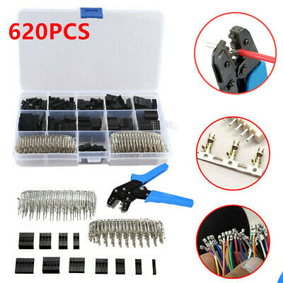 "2.54mm 0.1/"" Wire Jumper Housing Pin Connector /& SN01BM Terminal Crimping Tools"