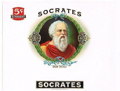 Original Cigar Box Label Vintage C1920s Embossed Socrates Know Thyself Ebay