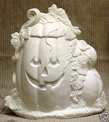Ceramic Bisque Dumb Pumpkin Large Ceramichrome Mold 2521 U-Paint Ready To Paint