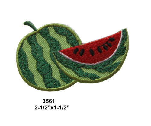 #3560 3561 Anguria Frutta Ricamo Ferro Su Applicazione Toppa