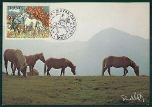 GéNéReuse France Mk 1978 Chevaux Cheval Horse Cheval Maximum Carte Maximum Card Mc Cm H2499-afficher Le Titre D'origine