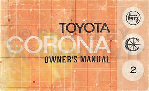 1971 toyota corona owners manual original rt 83 93 owner guide book rh ebay ie Toyota Corona Wagon Toyota Corona Wagon