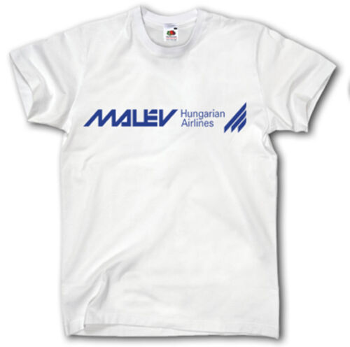 MALEV AIRWAYS SHIRT S-XXXL LOGO HUNGARIAN  AIRLINES PILOT AVIATION  JET