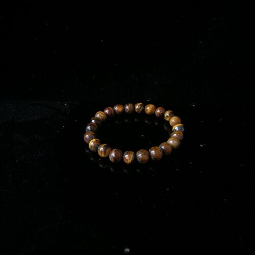 8mm Natural Tiger's eye Stone Bracelet DZ106