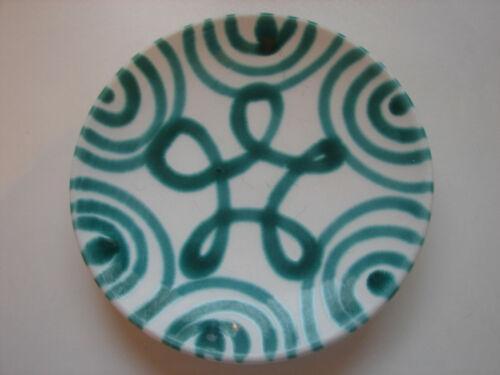 grün geflammt 15cm Gmundner Keramik 2 verfügbar alter Teller