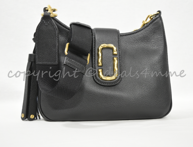 cd52be87dd60 MARC By Marc Jacobs M0011063 Leather Interlock Small Hobo   Shoulder Bag- Black