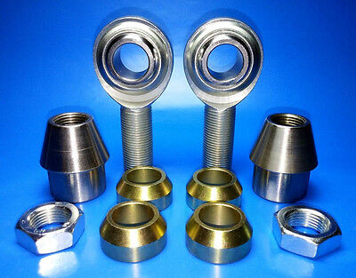 """4-Link 3//8/""""-24 Thread x 3//8/"""" Bore w// Cone Spacers Fits 7//8 Tube w// .065 wall"""
