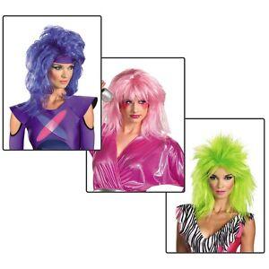 Jem-Wig-Adult-Jem-&-The-Holograms-Halloween-  sc 1 st  eBay & Jem Wig Adult Jem u0026 The Holograms Halloween Costume | eBay