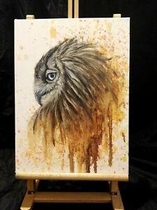 Peinture animalière, surréaliste, huile sur toile format 30/40 cm
