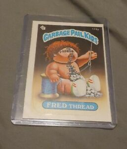 VINTAGE-1986-Topps-Garbage-Pail-Kids-Trading-Card-174a-Fred-Thread