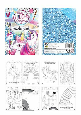 Unicorn Puzzle Book Fun Small Mini Loot//Party Bag Fillers Wedding Girls Party