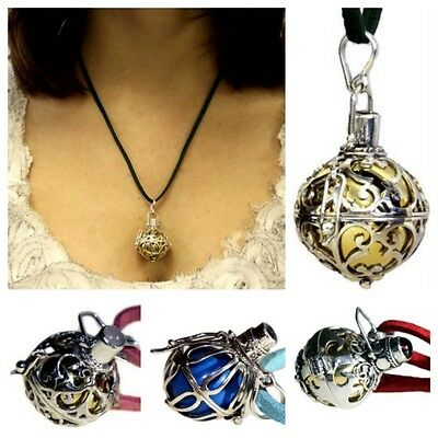 6060f10b7 Details about 925 Silver Guardian Angel Bell Necklace - Cord & Pendant