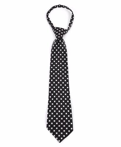 Boys Geometric Square Pattern Zipper Necktie MPWZ14-02