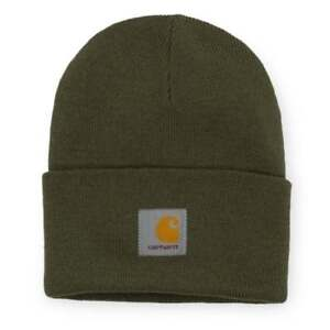 69a8eb671 Details about Carhartt Wip Watch Beanie Hat Cypress Green Black Cap Wooly  Streetwear Anglistic