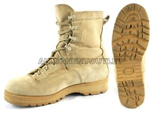 Mens US Military GORETEX ICB INFANTRY COMBAT BOOTS 790 Tan USA MADE Sz 6-16 EXC