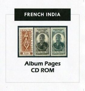 French-India-Stamp-Album-1892-1954-Color-Illustrated-Album-Pages