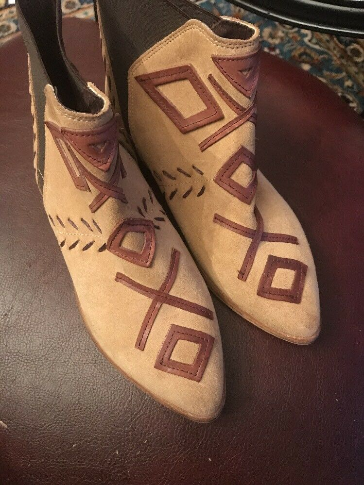 Anthropologie Sabah Ankle Boots By Howsty Size 36