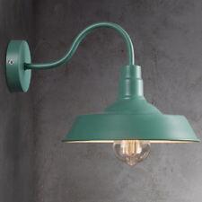 Green Retro Industrial Gooseneck Shade Metal Wall Sconce Lamp Vintage Barn Light