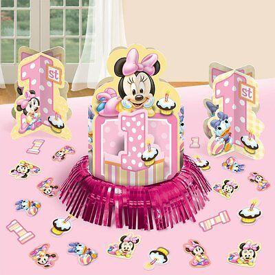 Baby Minnie 1st Birthday Table Decorating Kit Centerpiece Disney Party