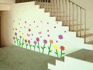 Flowers-amp-Butterfly-Removable-Wall-Sticker-Home-Vinyl-Decor-Kids-Nursery